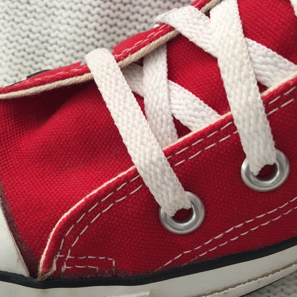 fdf0bcbb166aa Vintage converse red high top US shoes old stock